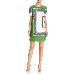Tory Burch Womens Mallory Silk Mini Party Dress Green 4