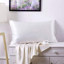 SLPBABY 100% Natural Pure Silk Pillowcase for Hair and Skin, Both Side 19 Momme Silk, Luxury Smo ...