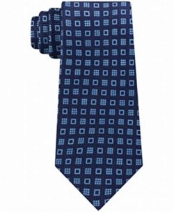 Michael Kors Men's Halo Square Neat Silk Tie Aqua