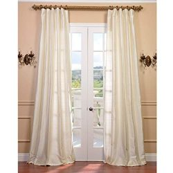 OS 1 Piece 120 Inch Girls Pearl Solid Color Textured Curtain Single Panel, White Color Window Dr ...