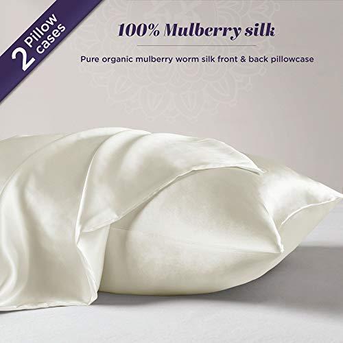 Silk Pillowcase for Hair and Skin – 100% Organic Pure Mulberry Worm Silk – Hidden Zi ...