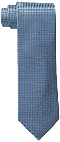 Calvin Klein Men's Hc Modern Gingham Tie, Aqua, Regular