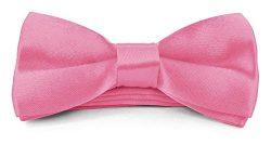 Boys Kids Adjustable Pre Tied 4×2 Satin Silk Bow Ties – Pink [Paperback] [Paperback]