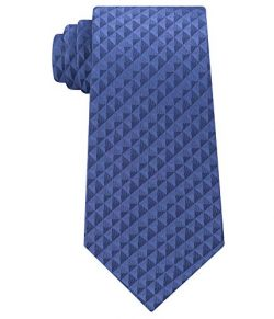 Calvin Klein Men's Optic Geometric Silk Tie (Blue, ONE SIZE)