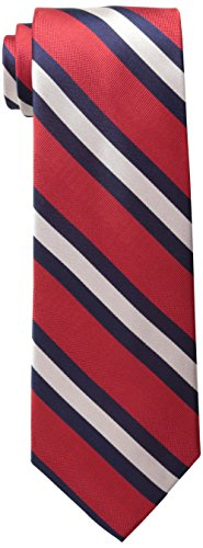 Tommy Hilfiger Men's Repp Stripe Tie, Red, One Size