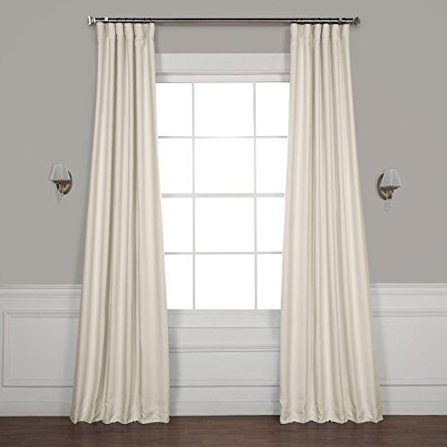 HPD HALF PRICE DRAPES BOCH-LN1856-96 Faux Linen Blackout Room Darkening Curtains, 50 X 96, Birch