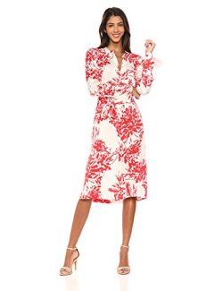 Equipment Women's Floral Print Roseabelle Silk Dress, NTR White BLD Moon, Large