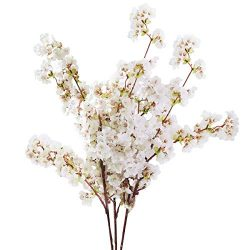 Sunm boutique Silk Cherry Blossom Branches, Artificial Cherry Blossom Tree Stems Faux Cherry Flo ...