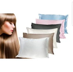 THXSILK 100% Silk Pillowcase for Hair and Skin, Luxury Mulberry Silk Pillow Cases with Hidden Zi ...