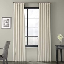 HPD Half Price Drapes VPCH-180103-108 Signature Blackout Velvet Curtain, 50 X 108, Neutral Ground