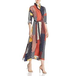 Tory Burch Womens Bianca Silk Printed Maxi Dress