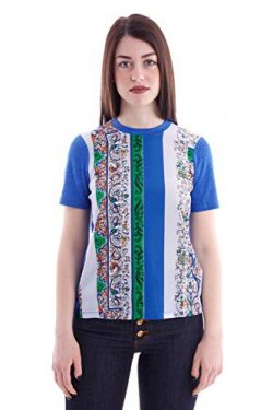 Tory Burch Silk Front T-Shirt, Womens.