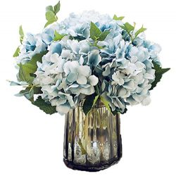 Anlise Artificial Hydrangea Flowers Fake California Hydrangea Silk Bouquet Flower for Home Weddi ...