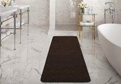 Silk Road Concepts SR-LUX6008-20X59 Brown Bath Runner Rug, 20″ x 59″