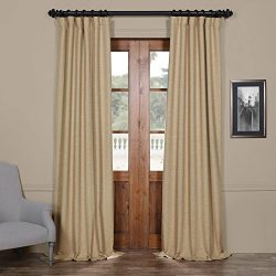 HPD HALF PRICE DRAPES BOCH-PL1608-96 Bellino Blackout Room Darkening Curtain, 50 X 96, Ginger