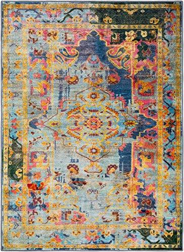 Surya Silk Road – 5′ 3″ x 7′ 3″ Area Rug, 3″ 3″, Blue, ...
