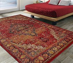 Silk Road Concepts SR-CIT3170-5X7 Collection Sculpted Rugs, 5'3″ x 7'3″, Red