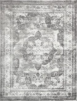Traditional Persian Vintage Design Rug Gray Rug 8′ 11 x 12′ FT (366cm x 274cm) Sofia ...