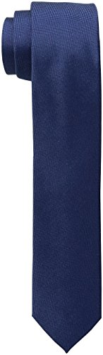 Calvin Klein Men's Oxford Solid Tie, Navy, Skinny