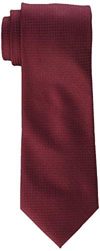 Calvin Klein Men's Hc Modern Gingham Tie, Burgundy, X-Long