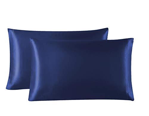 Love S Cabin Silk Satin Pillowcase For Hair And Skin Navy