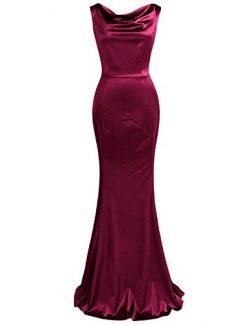 MUXXN Womens Summer Cut Out Neck Sleeveless Special Occasion Mermaid Long Dress (Burgundy 3XL)