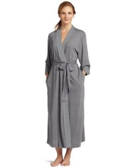 Natori Women's Shangri-la Solid Knit Robe, Heather Grey, XX-Large
