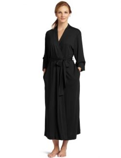 Natori Women's Shangri-la Solid Knit Robe, Black, Small