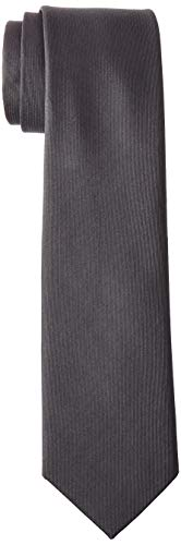 Kenneth Cole REACTION Men's Darien Solid Tie, Charcoal, One Size