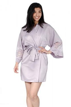 Jones New York Women's 36″ Satin Lace Kimono (X-Large)
