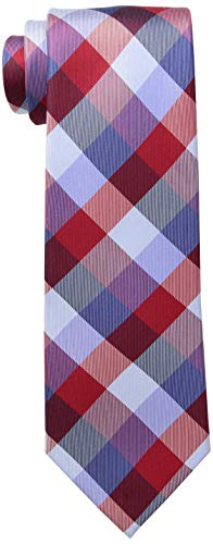 Tommy Hilfiger Men's Buffalo Tartan Tie, Red, One Size