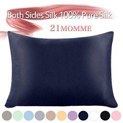 Jaciu 100% Mulberry Silk Pillowcase Pure,21 Momme Both Side Real Silk Pillowcases Hidden Zippere ...