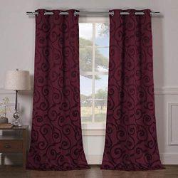 Duck River Textiles – Lewis Solid Faux Silk Textured Blackout Room Darkening Grommet Top W ...