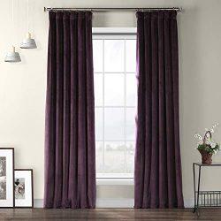HPD Half Price Drapes VPYC-181428-96 Heritage Plush Velvet Curtain, 50 X 96, Omega Purple