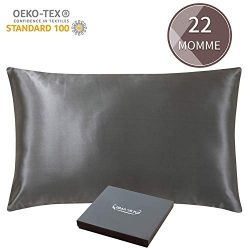 ZIMASILK 22 Momme 100% Mulberry Silk Pillowcase for Hair and Skin,More Breathable&Smooth Sil ...