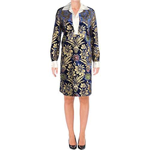 Tory Burch Womens Thelma Velvet Metallic Mini Dress