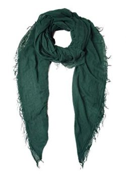 Chan Luu Trekking Green Cashmere And Silk Scarf Shawl Wrap