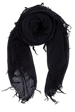 Chan Luu Women's Combo Cashmere Silk Scarf 62″x 58″ in Black