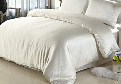 Elle & Alix 100% Pure Mulberry Silk Duvet Cover 19 MM Silk Hypoallerganic Good for Skin & ...