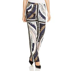 Tory Burch Womens Silk Pattern Dress Pants