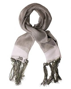 DIESEL BLACK GOLD – Viscose Linen and Silk Neckerchief – Scarf 71×11 in / 180&# ...