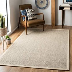 Safavieh Natural Fiber Collection NF143C Marble and Beige Sisal Area Rug (6′ x 9′)