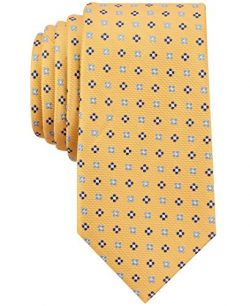 Nautica Men's Flare Neat Tie, Yellow/Blue, One Size