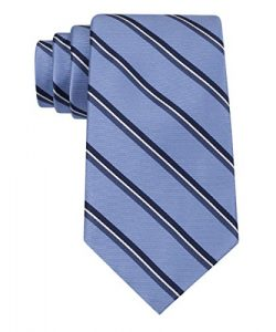 Tommy Hilfiger Men's Stripe Tie, Blue, One Size