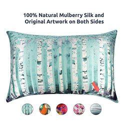 Artovida Premium 100% Natural Mulberry Silk Pillowcase for Hair and Skin, Hypoallergenic. Design ...