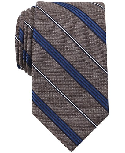 Nautica Men's Bilge Stripe Tie, taupe, One Size