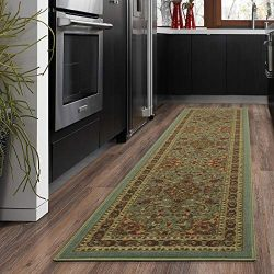 "Silk Road Concepts SR-OTH2215-2X7 Collection Persian Rugs, 1'10"" x 7′, Seafoam"