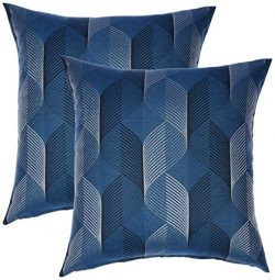 Redearth Jacquard Throw Pillow Cushion Covers-Woven Decorative Farmhouse Square Cases Set for Co ...