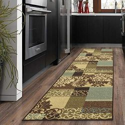 Silk Road Concepts Collection Contemporary Rugs, 2'7″ x 10″, Brown