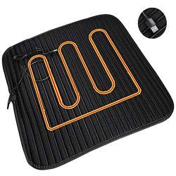 YGYQZ Car Heating Cushion, Non-Slip Office Chair Multifunctional USB Heated Seat Cushion Univers ...